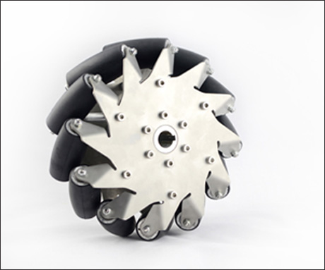 203MM stainless steel mecanum wheel right with rubber rollers 14150