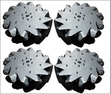 A set of 254mm(10inch) steel body mecanum wheel (4 pieces)/Bearing Rollers14141