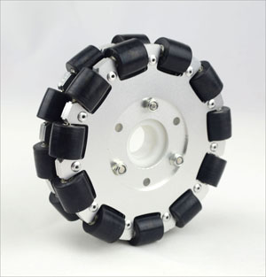 (5inch)127mm Double Aluminum Omni Wheel w/bearing rollers 14073