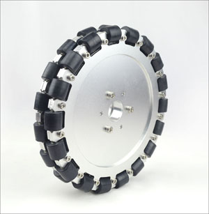 (8 inch) 203mm double aluminum omni wheel w/bearing rollers 14125