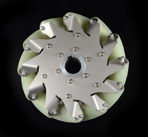 8 Inch Industrial wheel Mecanum wheel with 12 PU Roller(50KG load) Left 14176