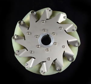 8 Inch Industrial wheel Mecanum wheel with 12 PU Roller(50KG load) Right 14177