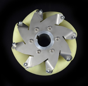 6 Inch Industrial wheel Mecanum wheel with 8 PU Roller(50KG load) Right 14168