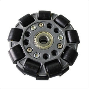 100mm Double Plastic Omni Wheel w/Central Bearings 14060