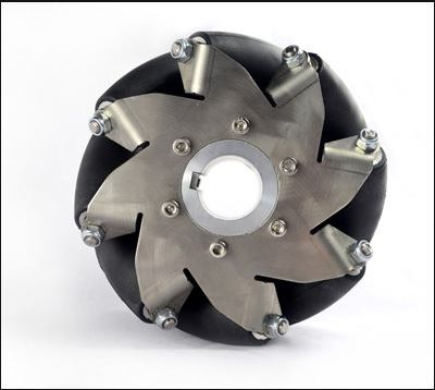 152mm(6 Inch) Stainless Steel Mecanum Wheel Left(50kg Payload) 14154