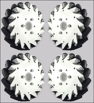 (6 inch)152mm Aluminum Mecanum wheels Set (2Left, 2Right) Basic 14165