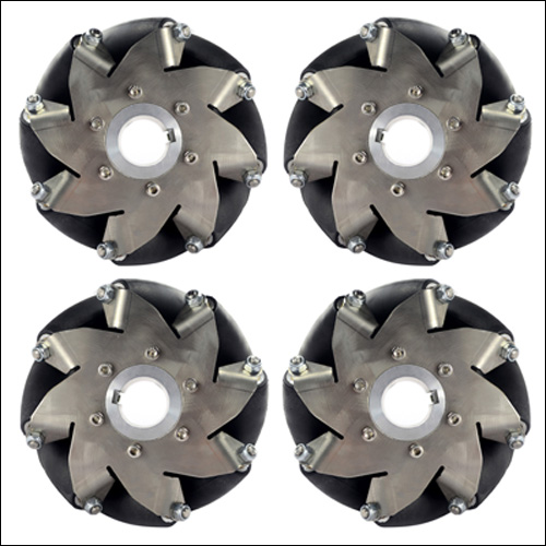 152mm(6 Inch) Stainless Steel Mecanum Wheel 4Pieces (50kg Payload)14156