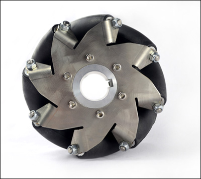 152mm(6 Inch) Stainless Steel Mecanum Wheel Right(50kg Payload) 14155(14156R)